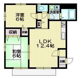 カーザ・ミア2階Fの間取り画像