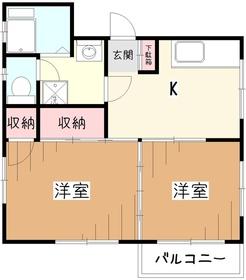 遠藤マンション3階Fの間取り画像