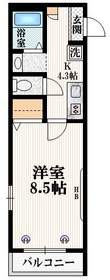 ザ・レジデンス新宿北3階Fの間取り画像