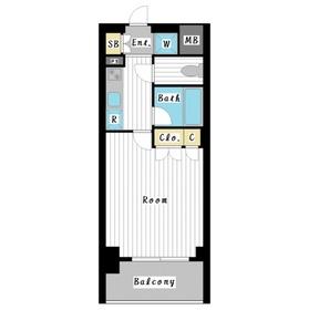 スペーシア川崎Ⅲ2階Fの間取り画像