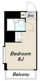 ブリリアンメゾンオノ2階Fの間取り画像