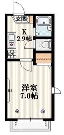 メゾン・ピーク2階Fの間取り画像