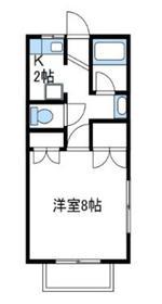 ドミール青朋C2階Fの間取り画像