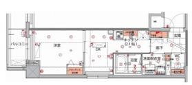 菊川駅 徒歩1分3階Fの間取り画像