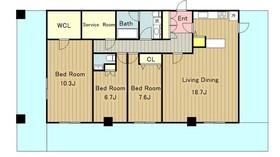 ラナイガーデン新百合ヶ丘WEST ラナイガーデンシンユリガオカウエスト10階Fの間取り画像