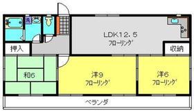 下瀬谷ハイツ第62階Fの間取り画像