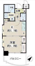 エクセル東神奈川9階Fの間取り画像
