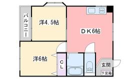 マリンコート姪浜2階Fの間取り画像
