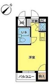 スカイコート阿佐ヶ谷第32階Fの間取り画像