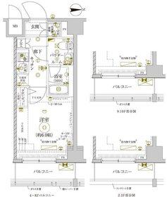 レアライズ新丸子10階Fの間取り画像