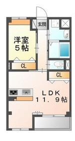 サンライズM1階Fの間取り画像