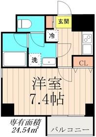 デュオメゾン錦糸町7階Fの間取り画像