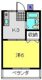 清光荘2階Fの間取り画像
