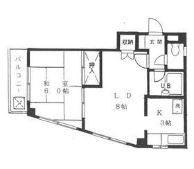 小原ビル2階Fの間取り画像