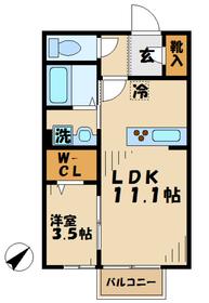 愛甲石田駅 徒歩5分2階Fの間取り画像