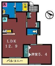BONHEUR1階Fの間取り画像