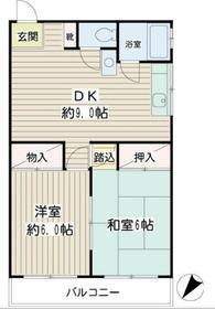 中田ビル2階Fの間取り画像