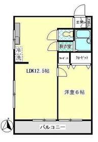ゼフィールマンションB棟4階Fの間取り画像