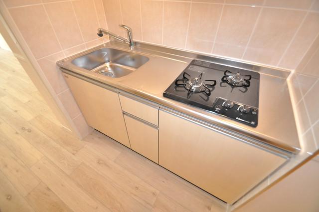 エイチ・ツーオー布施 お料理好きにはうれしい設備。豪華なシステムキッチンですよ。