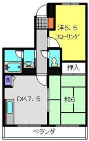 日吉本町駅 徒歩18分2階Fの間取り画像