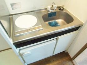 IHコンロ・ミニ冷蔵庫が完備されたシステムキッチンです☆