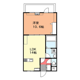 丸山マンション4階Fの間取り画像