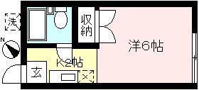 キッチンと居室の分かれた1Kタイプになります☆