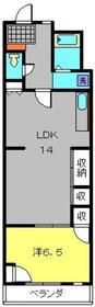 ハイツ磯子台1階Fの間取り画像