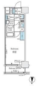 ディームス東陽町Ⅱ8階Fの間取り画像