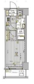 グロース横浜阪東橋10階Fの間取り画像