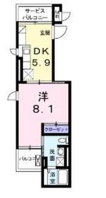 ボンヌシャンス1階Fの間取り画像