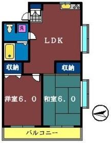 三久ビル3階Fの間取り画像