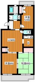 ピアジェ壱番館2階Fの間取り画像