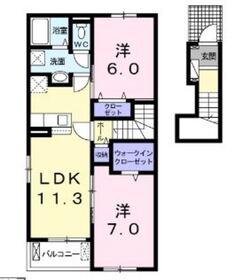 プリマヴェーラ A2階Fの間取り画像