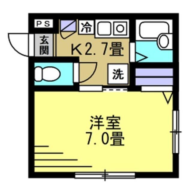 K2.7帖、洋室7帖