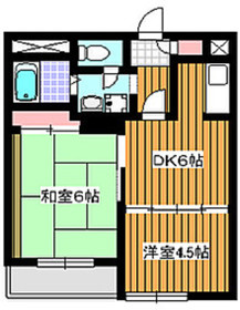 地下鉄成増駅 徒歩2分2階Fの間取り画像
