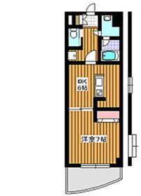 下赤塚駅 徒歩4分5階Fの間取り画像