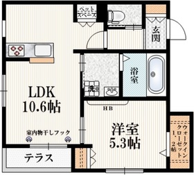 西荻窪駅 徒歩21分1階Fの間取り画像