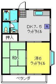 メゾングレース2階Fの間取り画像