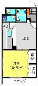 ロワール横濱2階Fの間取り画像