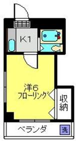 武蔵小杉駅 徒歩8分3階Fの間取り画像