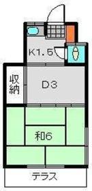 近藤荘第11階Fの間取り画像