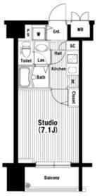 秋葉原駅 徒歩5分9階Fの間取り画像
