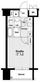 岩本町駅 徒歩2分9階Fの間取り画像
