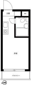 ラ・レジダンス・ド・VIP中野坂上1階Fの間取り画像