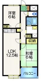 ハイタウン武蔵野2階Fの間取り画像