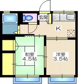 シティハイム アイザワ2階Fの間取り画像