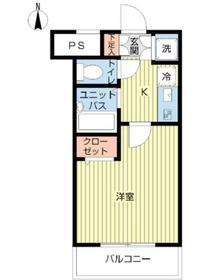 スカイコート練馬桜台1階Fの間取り画像