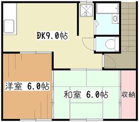 カサベージュ2階Fの間取り画像
