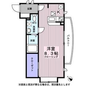 ヴィーナスコート2階Fの間取り画像
